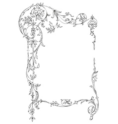 Classic floral frame vector