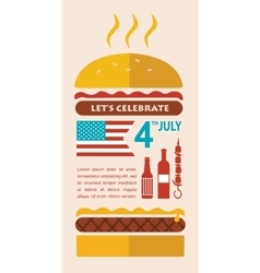 HAPPY independence day of America card or vector image vector image