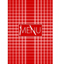 menu card red gingham vector image