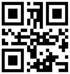 Black qr code says HOT PRICE vector image