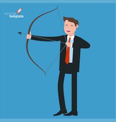 businessman shooting arrow vector image
