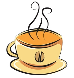 cup of coffee Doodle style vector image