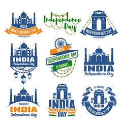 India badges vector