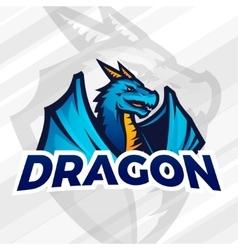 lDragon sport mascot Football or baseball vector image