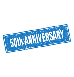 50th anniversary stamp 50th anniversary vintage vector
