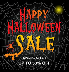 A banner for halloween sale vector