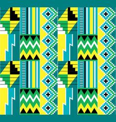 African tribal kente cloth seamless pattern vector