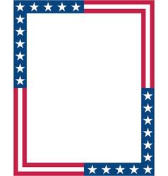 American flag symbols decorative frame border vector