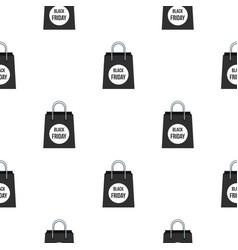 Black friday bag pattern flat vector
