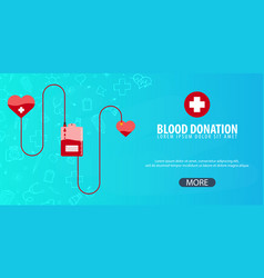 blood donation medical background health care vector image