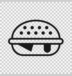 burger sign icon in transparent style hamburger vector image