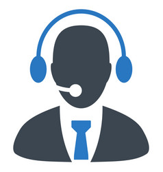 Call center director flat icon vector
