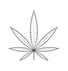 cannabis linear vector image