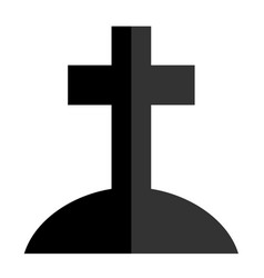 Cemetery sign icon flat vector