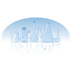 chemical laboratory background vector image