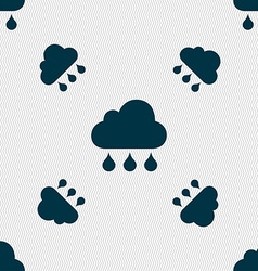 cloud rain icon sign Seamless pattern with vector image