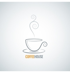 coffee cup ornate background vector image