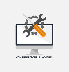 Computer troubleshooting icon vector