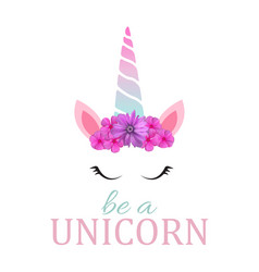 cute be a unicorn background vector image