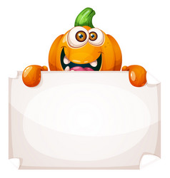 cute funny pumpkin characters advertisement vector image