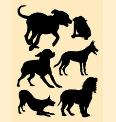 dog pet animal silhouette vector image