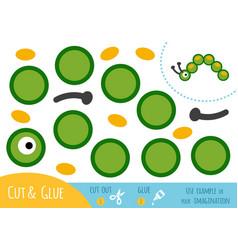 education paper game for children caterpillar vector image