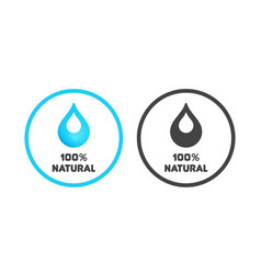 emblem of natural and eco products vector image