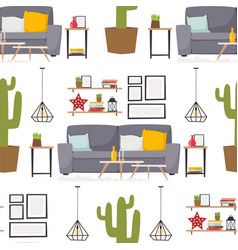 Furniture room interior design apartment home vector