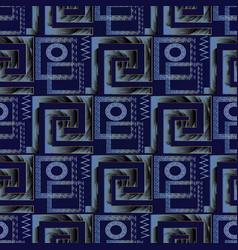 greek key meander 3d seamless pattern vector image