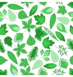 green tree leaves seamless pattern vector image