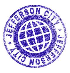 Grunge textured jefferson city stamp seal vector