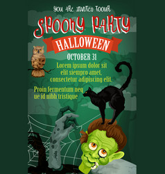 halloween holiday october party poster vector image