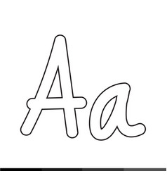 hand drawing letter font icon design vector image
