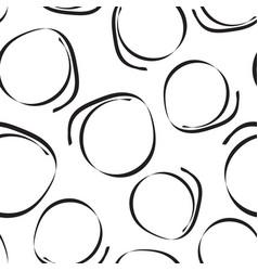 Hand drawn scribble circles seamless pattern vector