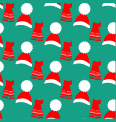 hat and scarf pattern vector image