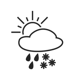 Heavy rain with snow Sleet shower Weather vector image