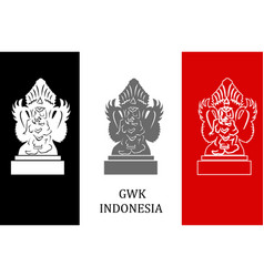 In flat design style with some sights of indonesia vector