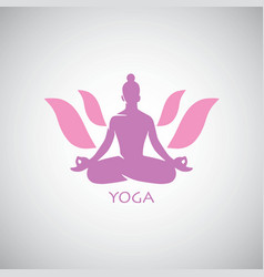 indian yoga lotus logo vector image