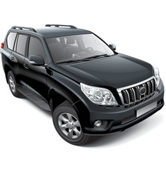 Japanese mid size luxury SUV vector