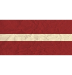 Latvia paper flag vector image