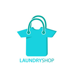 laundry and bag logo combination vector image