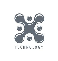 Logo molecular blot in form x vector