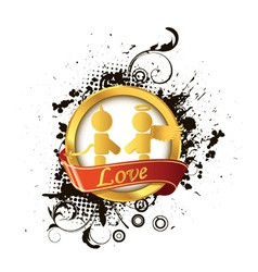 Love label vector