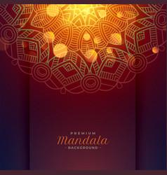 Lovely mandala art pattern background vector