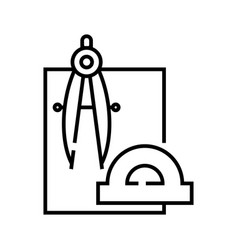Making project line icon concept sign outline vector