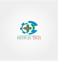 Medical technology icon template creative logo vector