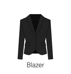 men blazer or jacket or suit symbol simple flat ve vector image
