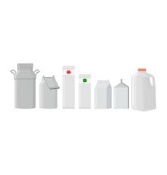milk pack empty glass jar glassware blank vector image