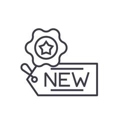 new tag concept thin line icon symbol vector image