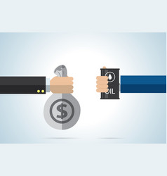 oil trading business concept vector image
